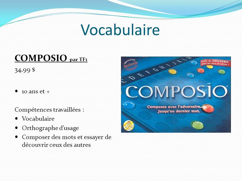 Vocabulaire COMPOSIO par TF1 34,99 $ 10 ans et +