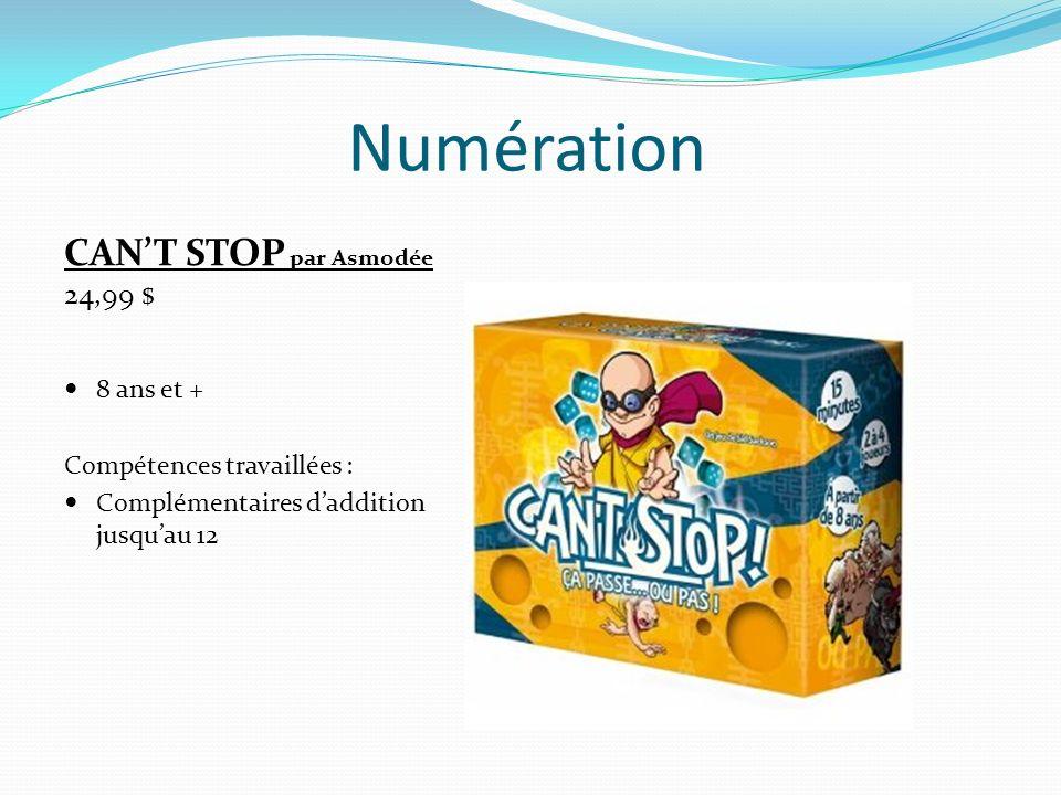 Numération CAN'T STOP par Asmodée 24,99 $ 8 ans et +