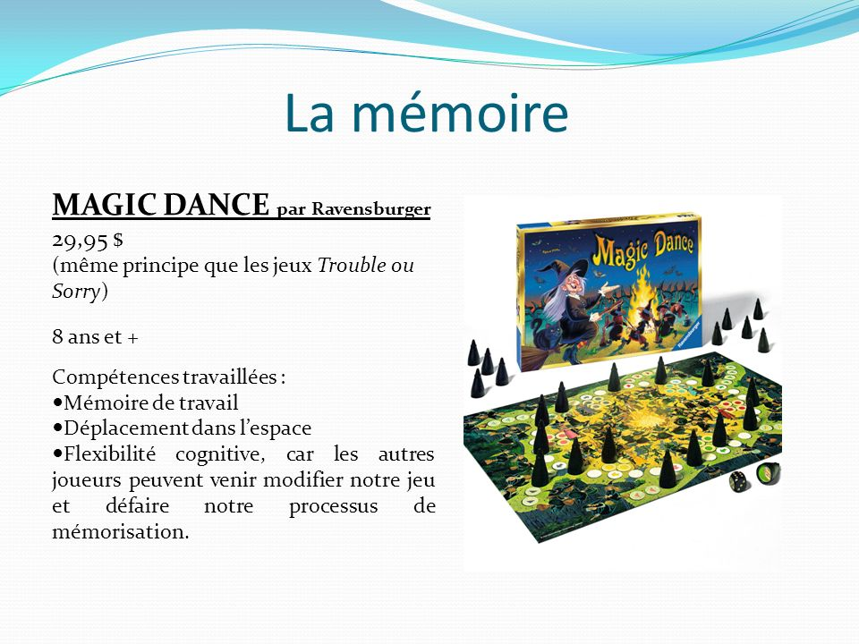 La mémoire MAGIC DANCE par Ravensburger 29,95 $