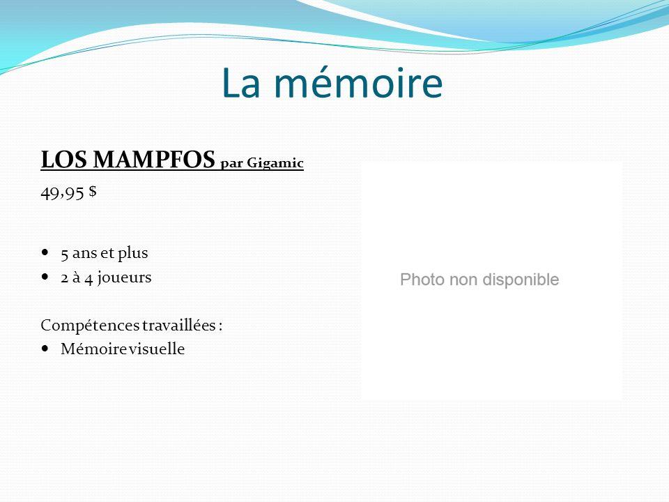 La mémoire LOS MAMPFOS par Gigamic 49,95 $ 5 ans et plus 2 à 4 joueurs
