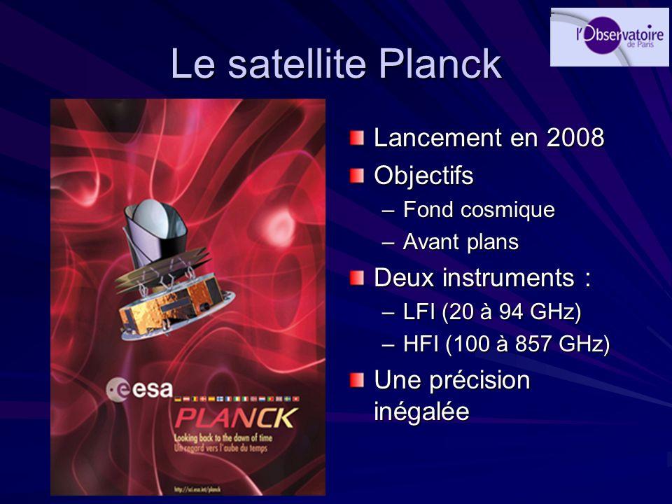 Le satellite Planck Lancement en 2008 Objectifs Deux instruments :