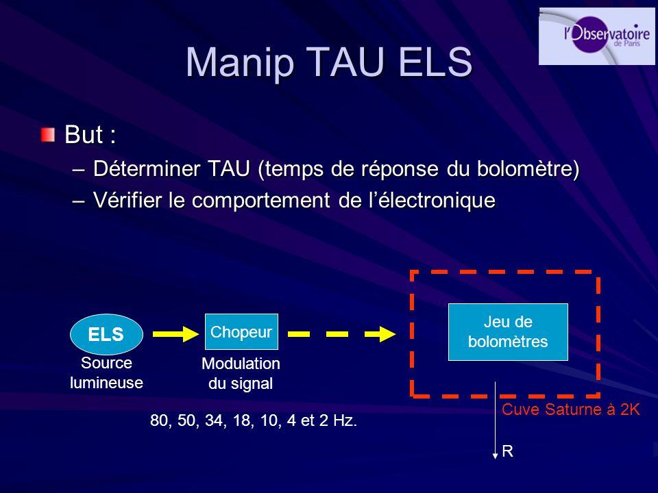 Manip TAU ELS But : Déterminer TAU (temps de réponse du bolomètre)