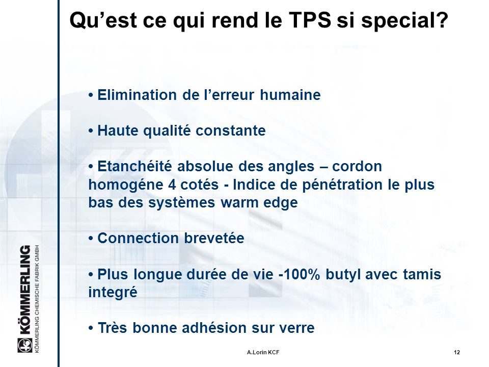 Qu'est ce qui rend le TPS si special