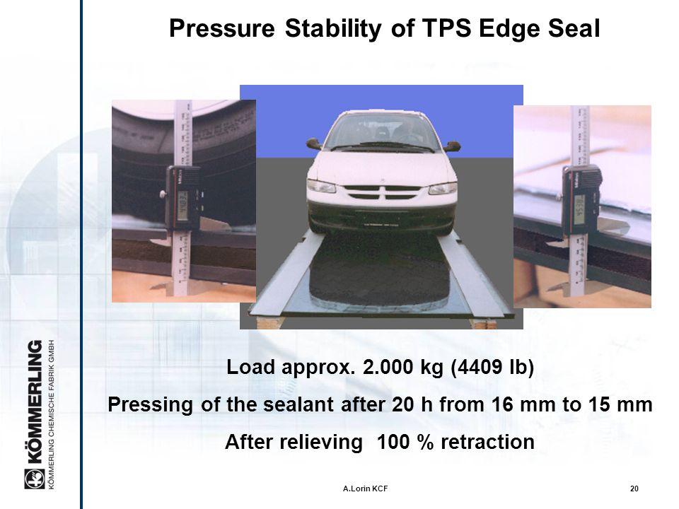 Pressure Stability of TPS Edge Seal