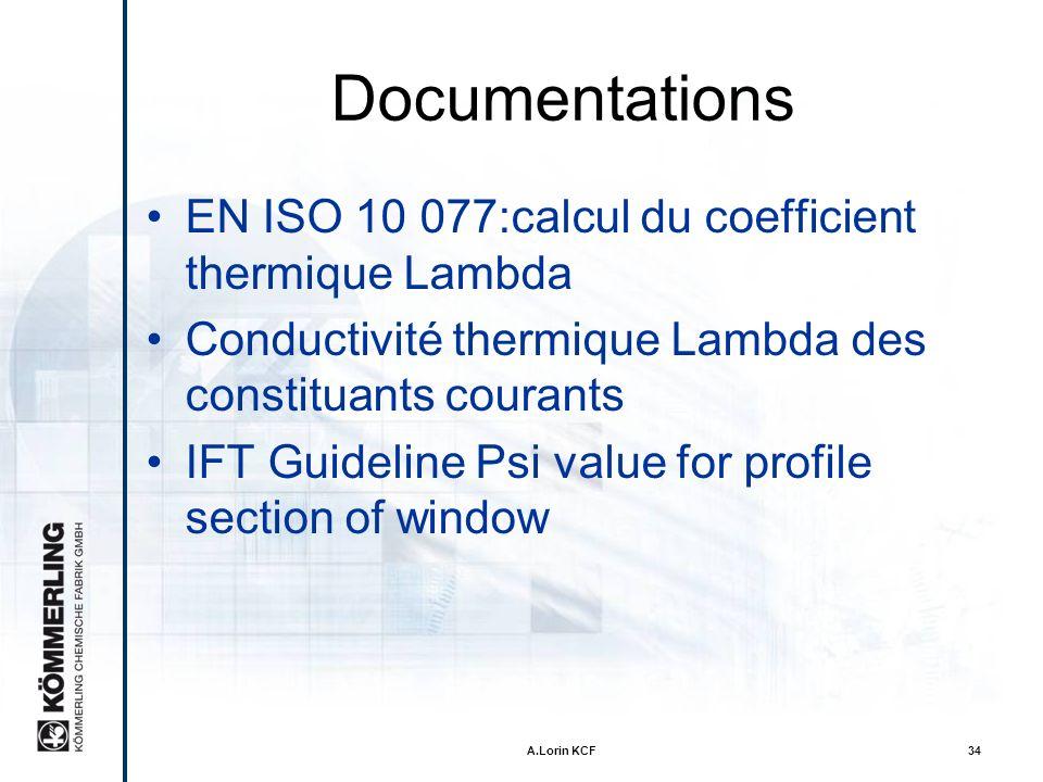 Documentations EN ISO 10 077:calcul du coefficient thermique Lambda