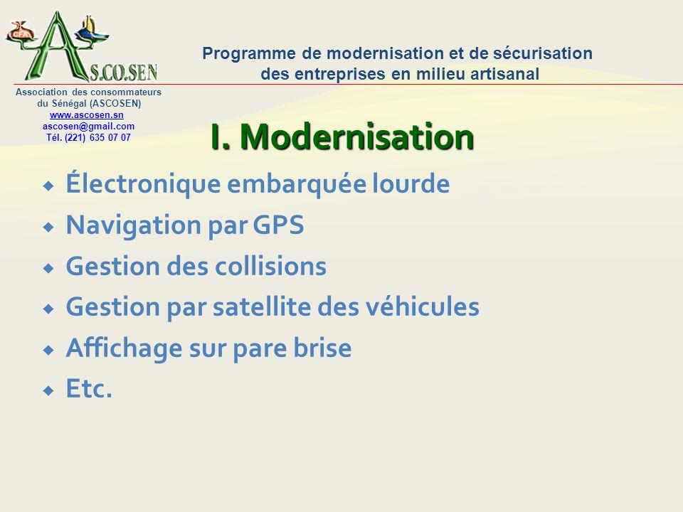 I. Modernisation Électronique embarquée lourde Navigation par GPS