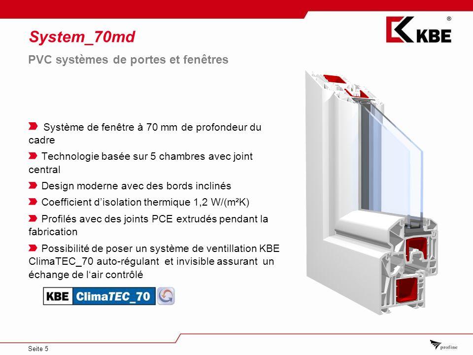 System_70md PVC systèmes de portes et fenêtres
