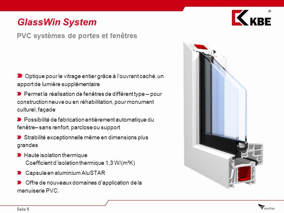 GlassWin System PVC systèmes de portes et fenêtres