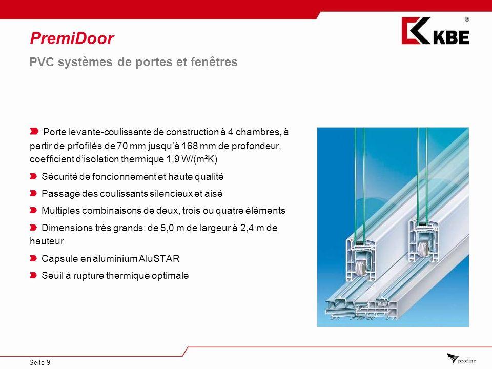 PremiDoor PVC systèmes de portes et fenêtres
