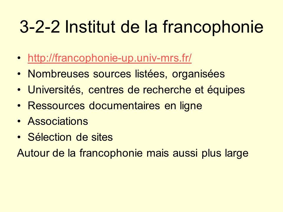 3-2-2 Institut de la francophonie