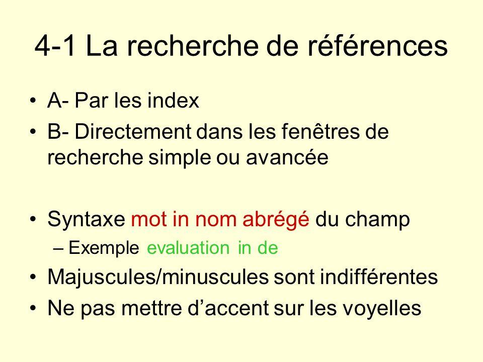 4-1 La recherche de références