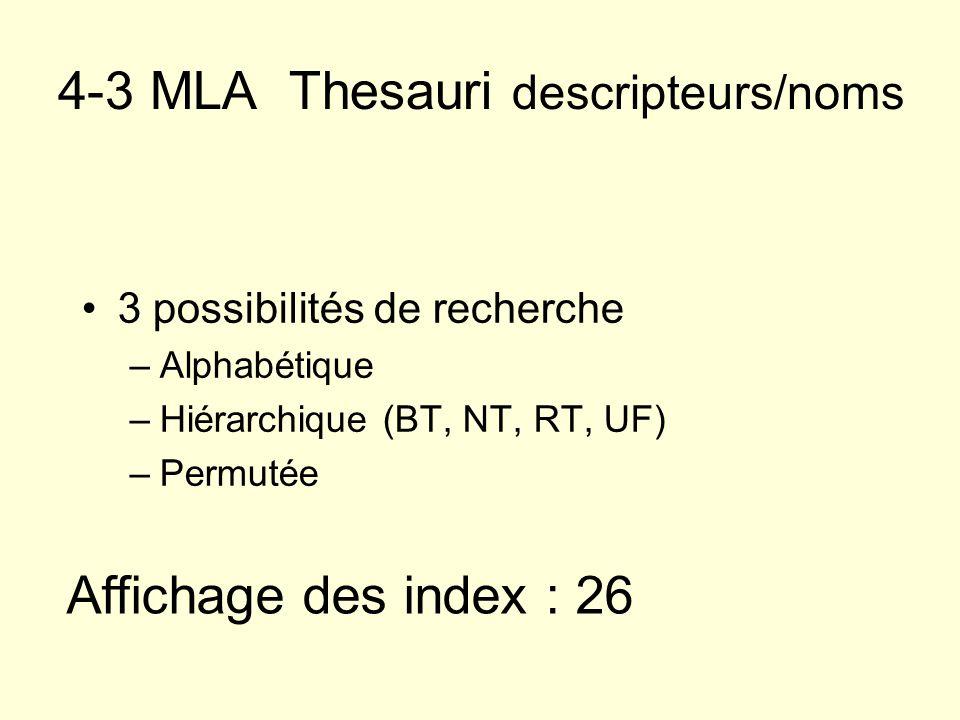 4-3 MLA Thesauri descripteurs/noms