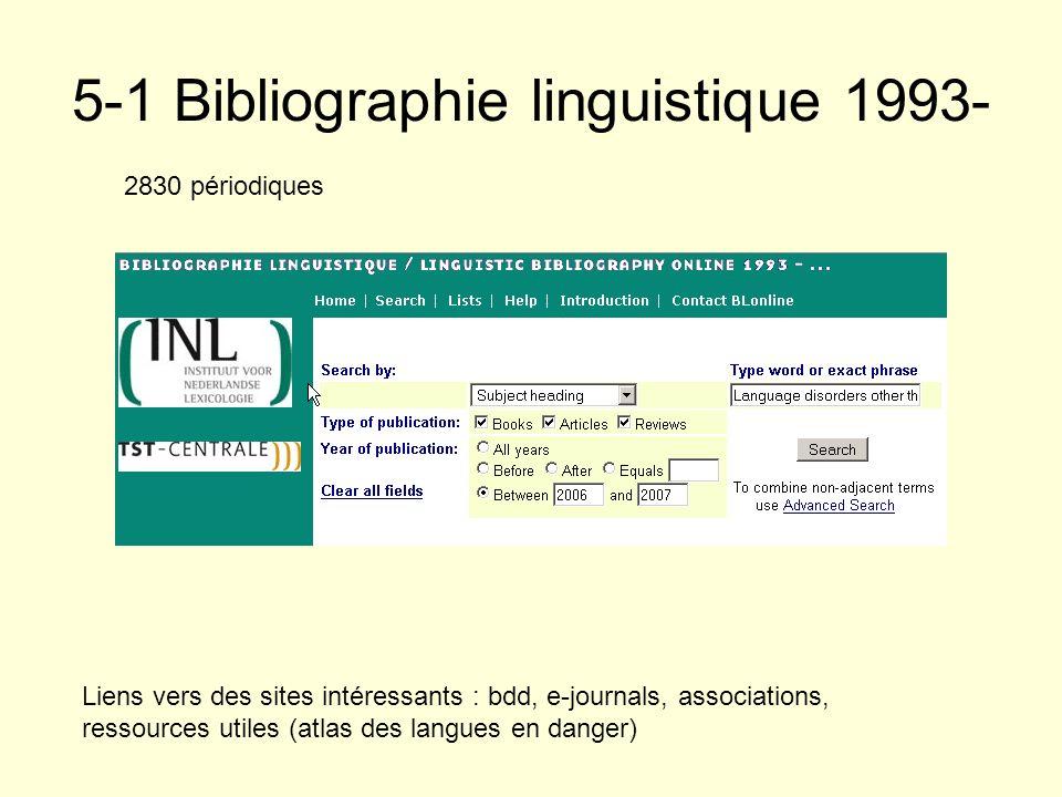 5-1 Bibliographie linguistique 1993-