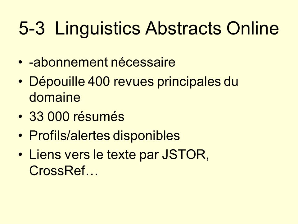 5-3 Linguistics Abstracts Online