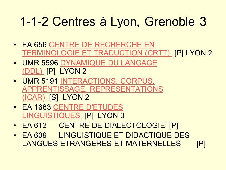 1-1-2 Centres à Lyon, Grenoble 3