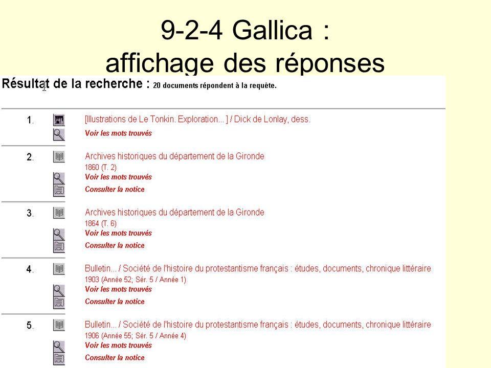 9-2-4 Gallica : affichage des réponses