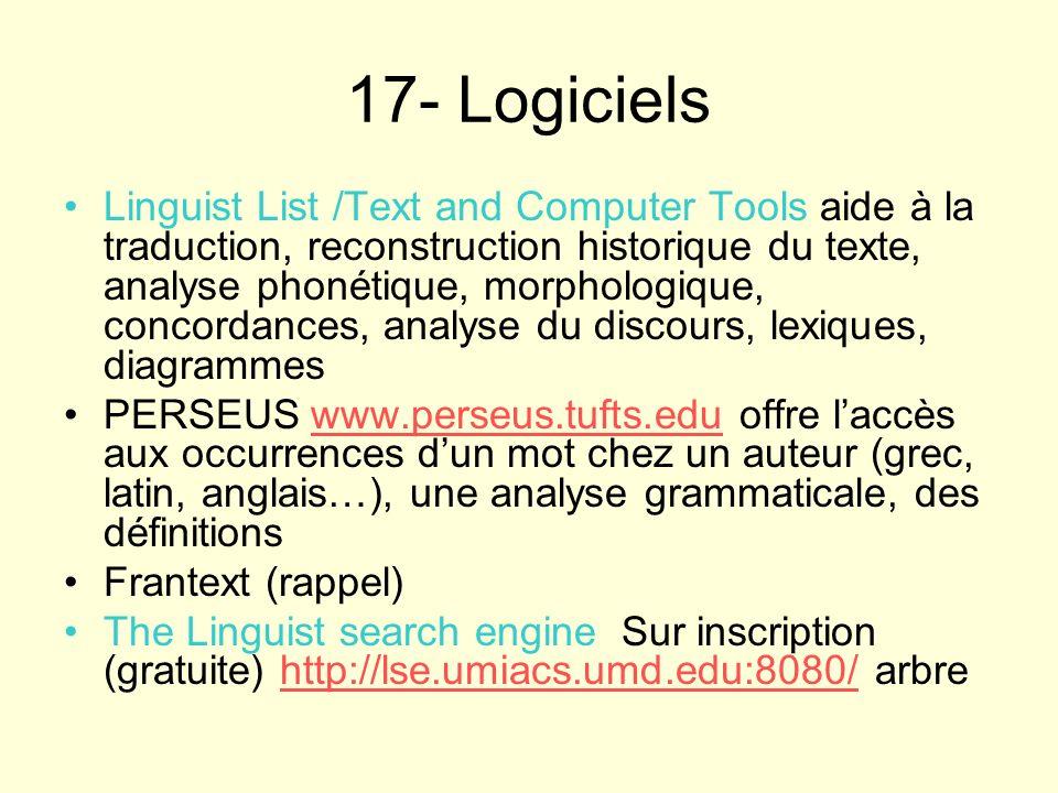 17- Logiciels