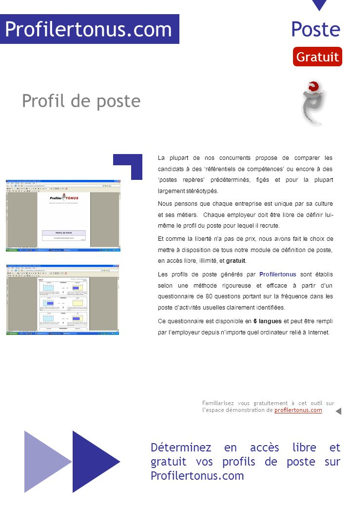 Profilertonus.com Poste Profil de poste Gratuit