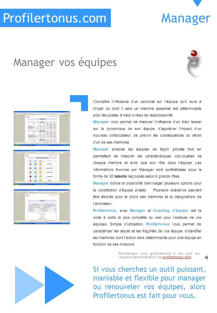 Profilertonus.com Manager Manager vos équipes