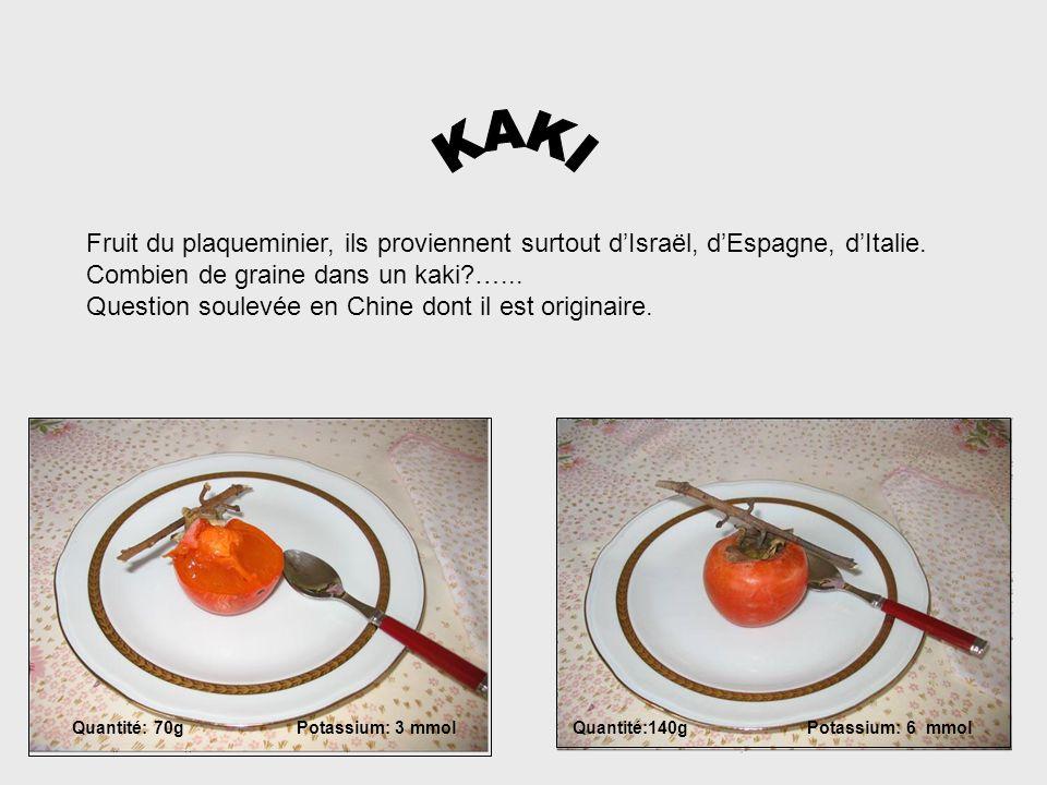 KAKI Fruit du plaqueminier, ils proviennent surtout d'Israël, d'Espagne, d'Italie. Combien de graine dans un kaki …...
