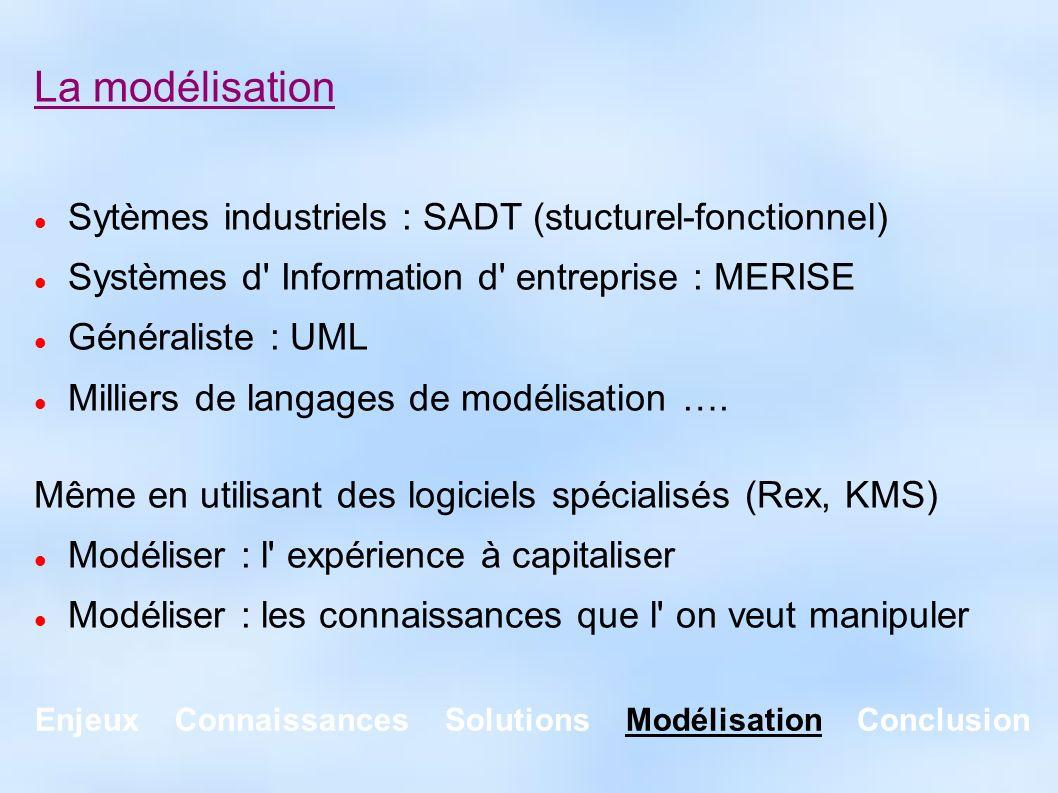 Enjeux Connaissances Solutions Modélisation Conclusion