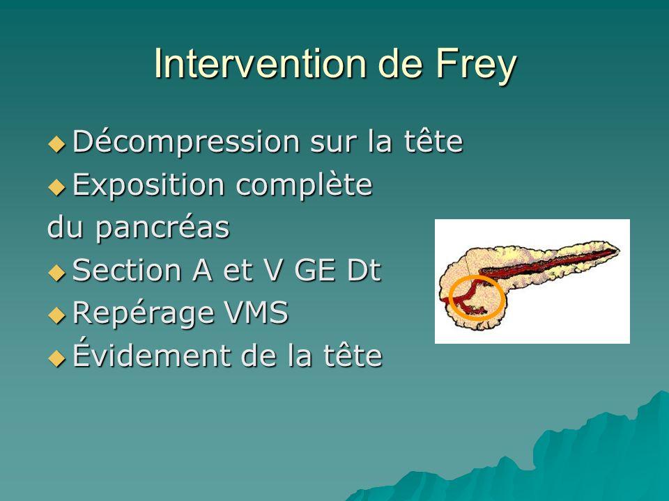 Intervention de Frey Décompression sur la tête Exposition complète