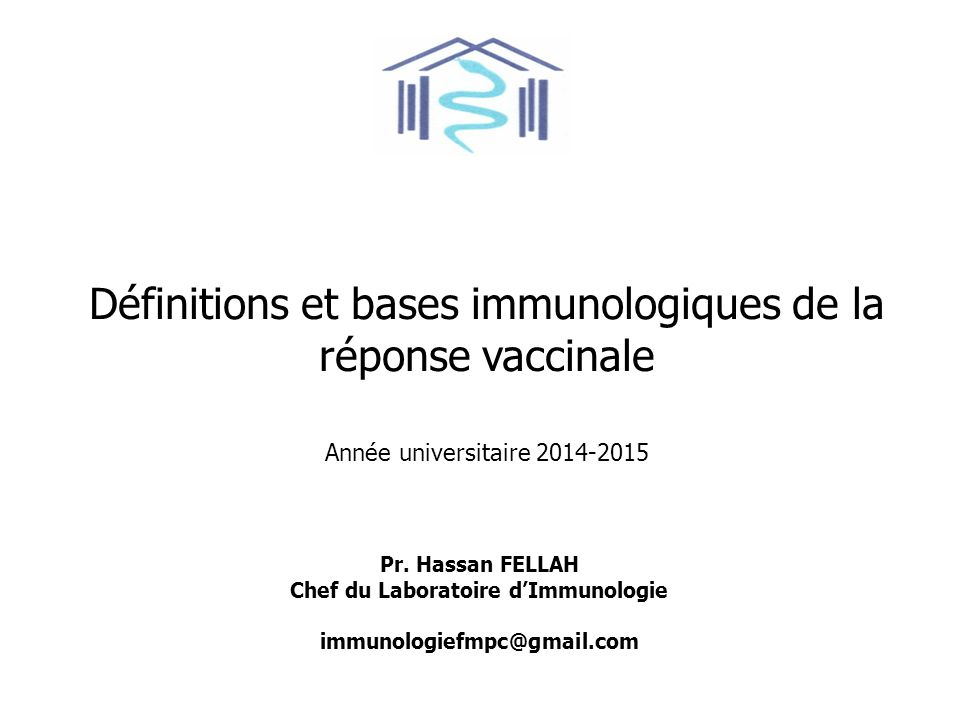 Chef du Laboratoire d'Immunologie