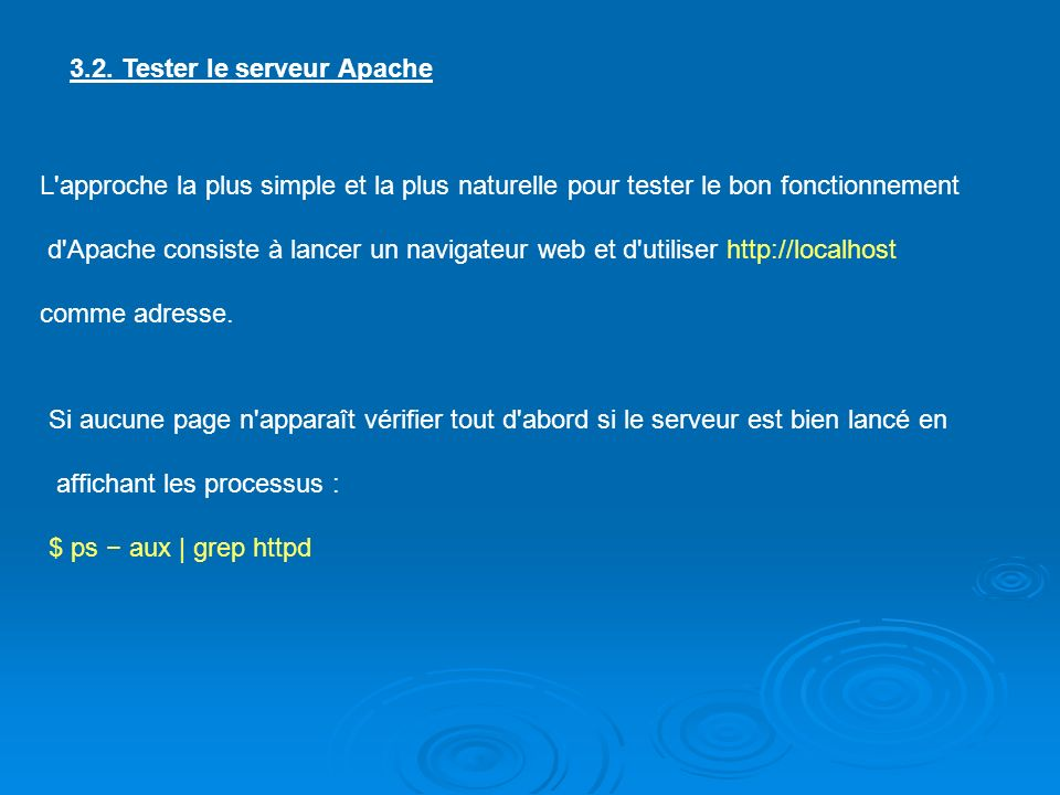 3.2. Tester le serveur Apache