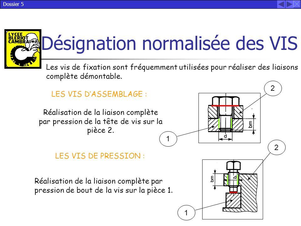 Les vis de fixation sont fréquemment utilisées pour réaliser des liaisons complète démontable.