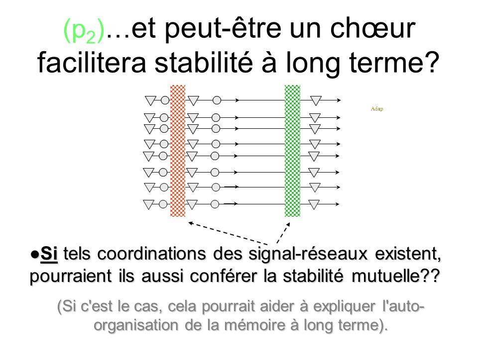 (p2)…et peut-être un chœur facilitera stabilité à long terme