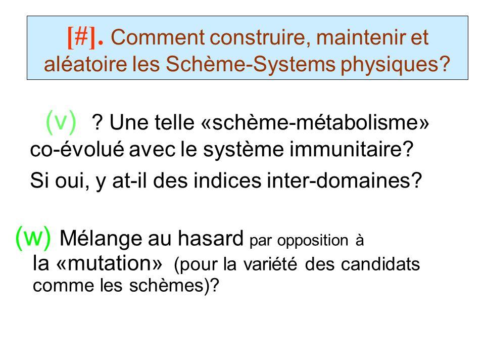 (v) Une telle «schème-métabolisme» co-évolué avec le système immunitaire Si oui, y at-il des indices inter-domaines