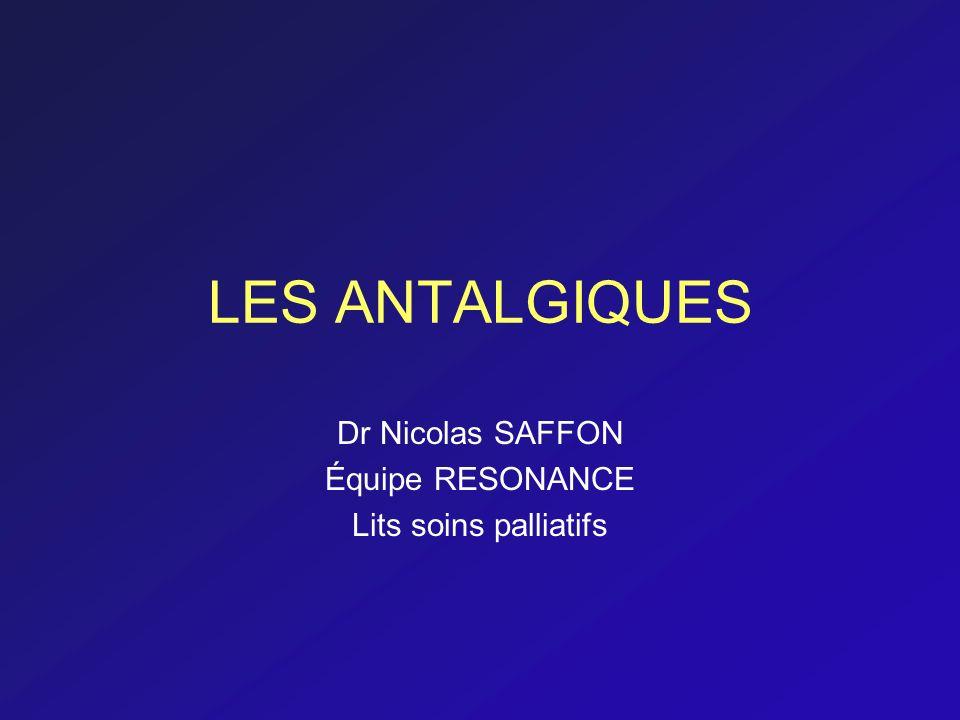 Dr Nicolas SAFFON Équipe RESONANCE Lits soins palliatifs