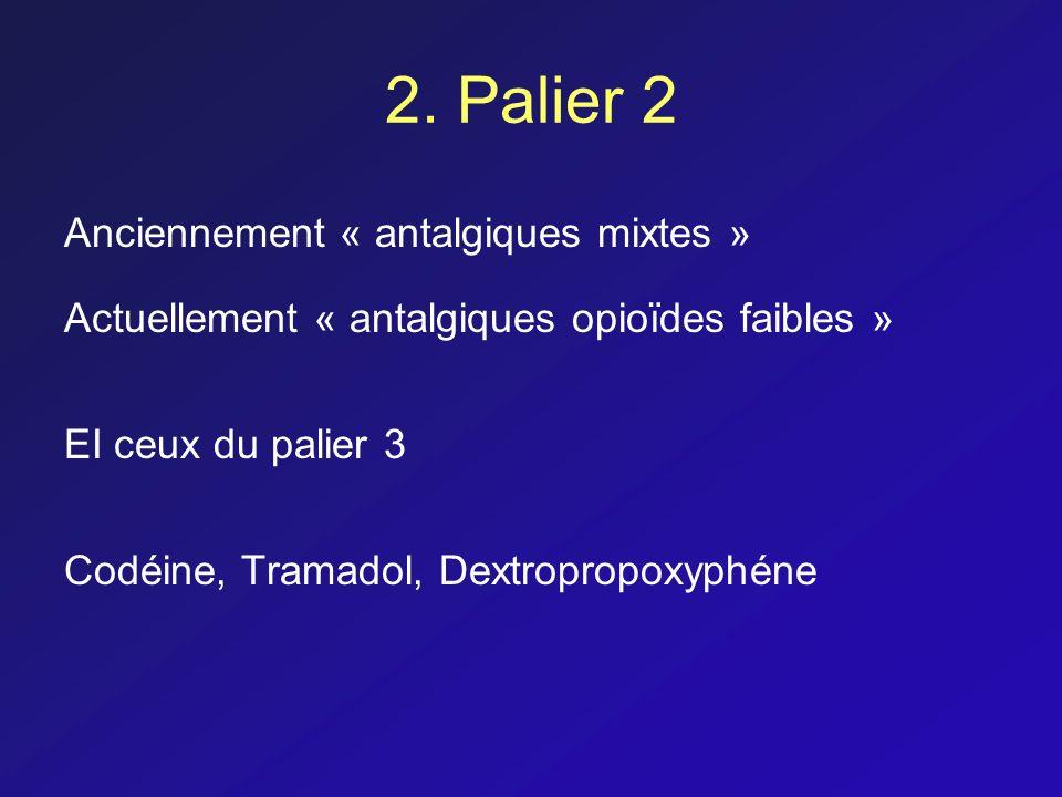 2. Palier 2 Anciennement « antalgiques mixtes »