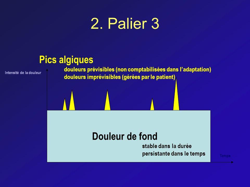 2. Palier 3 Pics algiques Douleur de fond