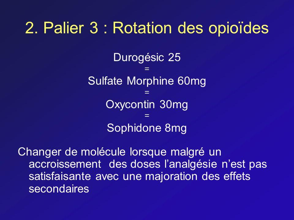 2. Palier 3 : Rotation des opioïdes