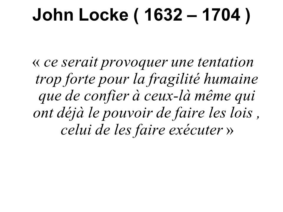 John Locke ( 1632 – 1704 )