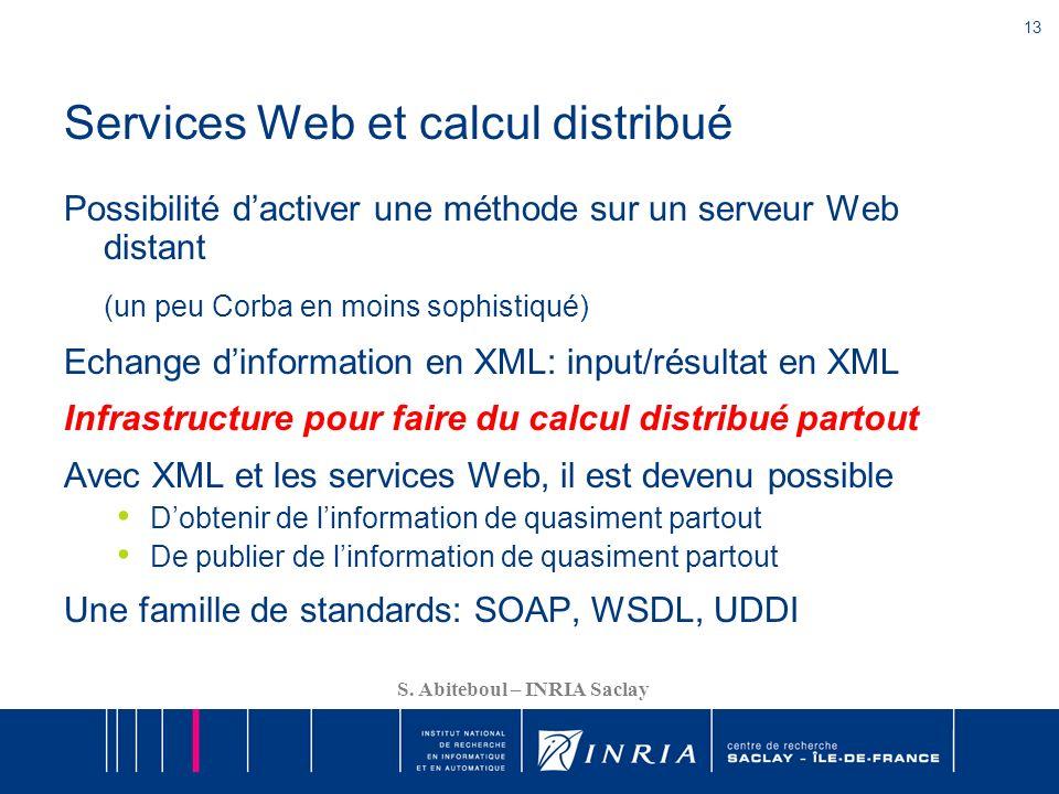 Services Web et calcul distribué