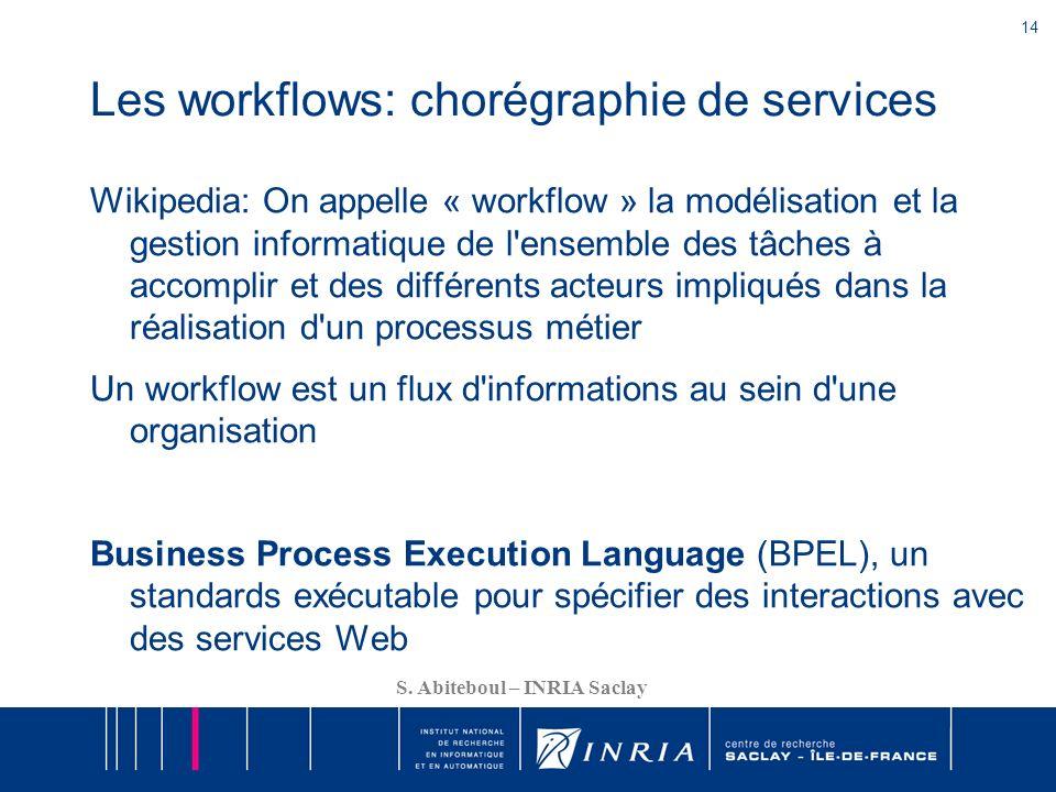 Les workflows: chorégraphie de services