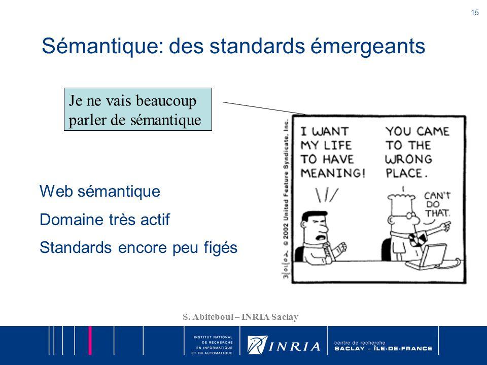 Sémantique: des standards émergeants