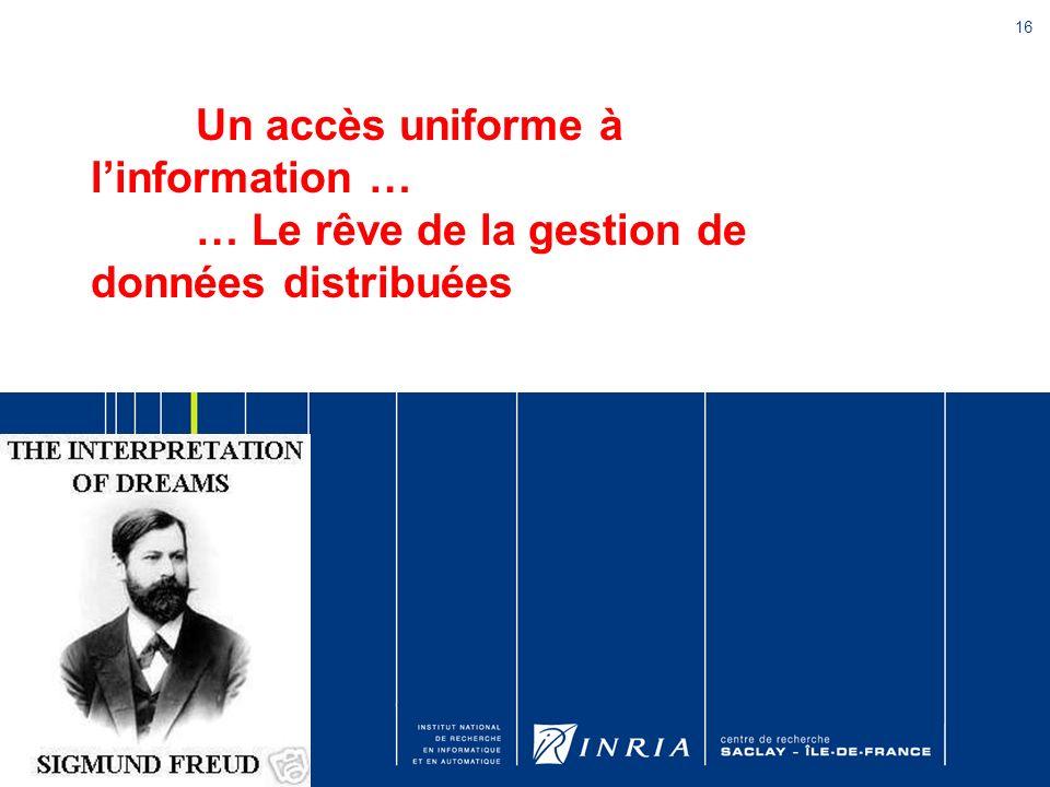 Un accès uniforme à l'information …