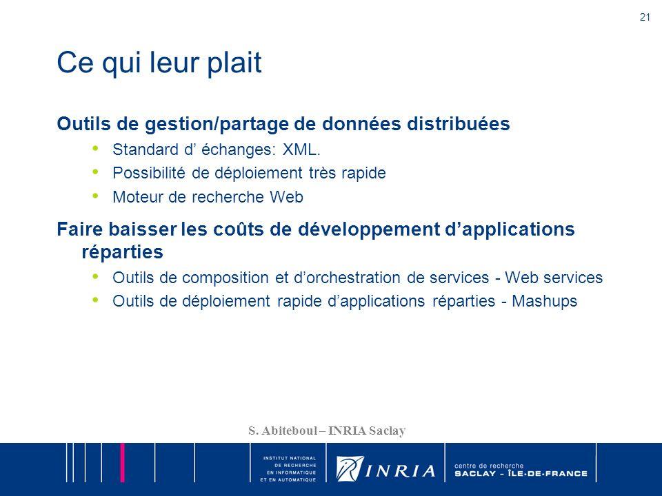 Ce qui leur plait Outils de gestion/partage de données distribuées