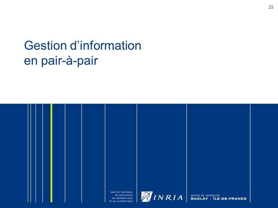 Gestion d'information en pair-à-pair