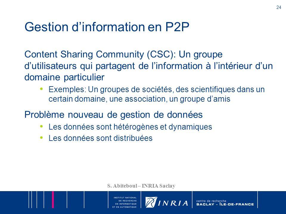 Gestion d'information en P2P
