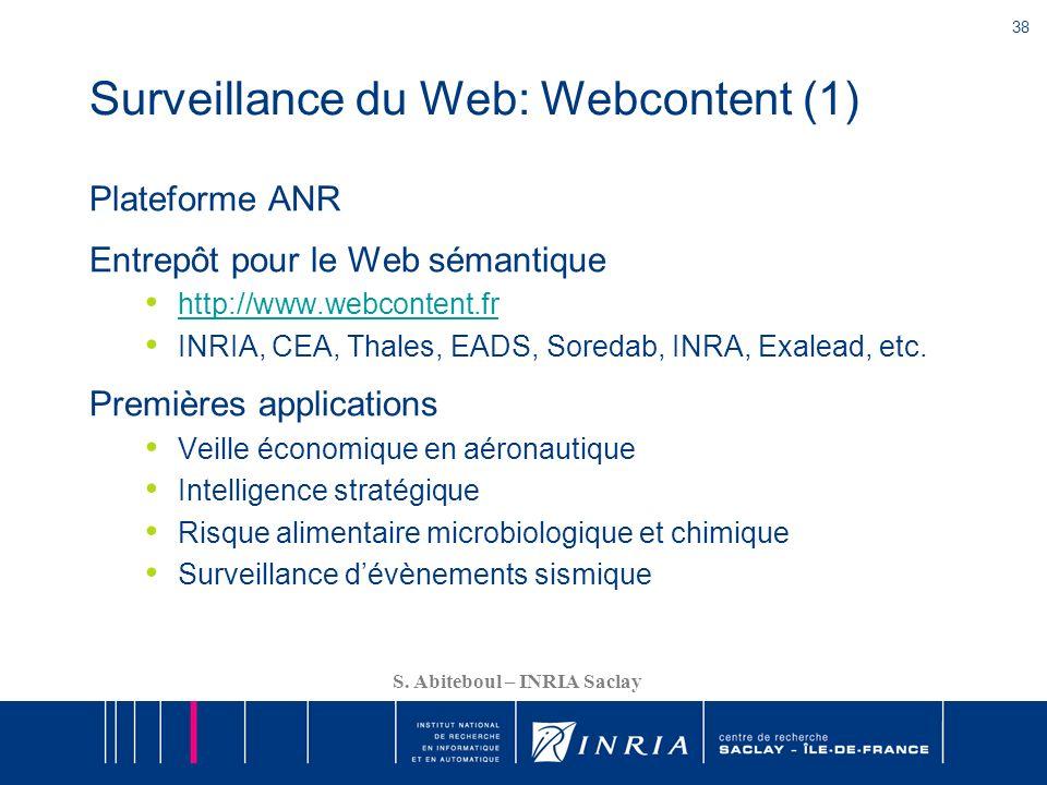 Surveillance du Web: Webcontent (1)