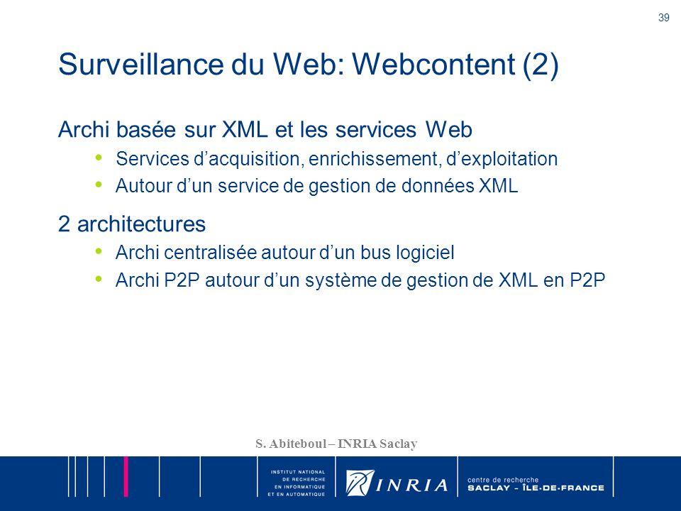 Surveillance du Web: Webcontent (2)
