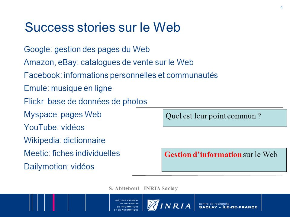 Success stories sur le Web