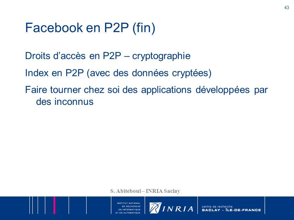 Facebook en P2P (fin)
