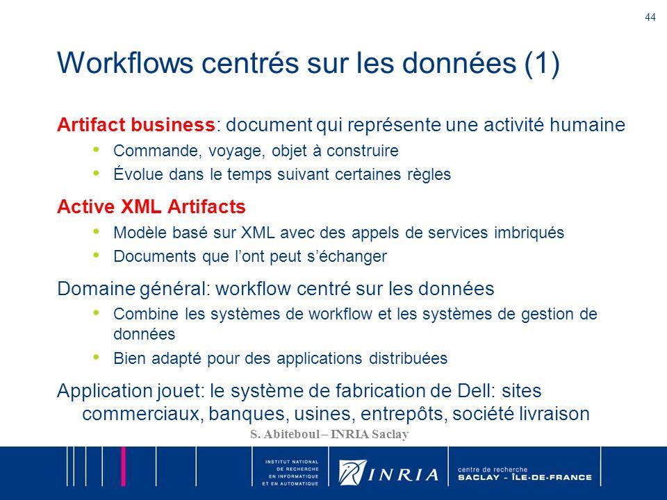Workflows centrés sur les données (1)