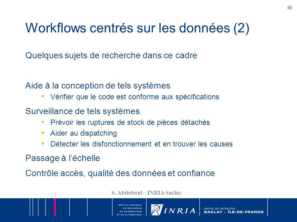 Workflows centrés sur les données (2)