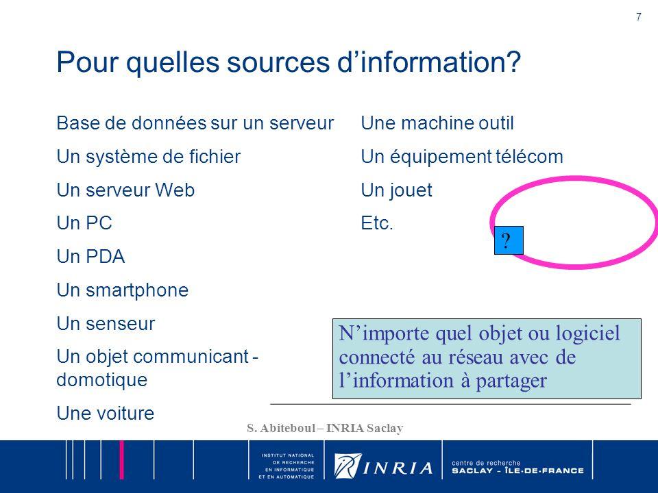 Pour quelles sources d'information